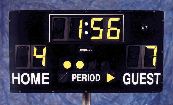 Portable Scoreboard for football, soccer, hockey, lacrosse, water polo