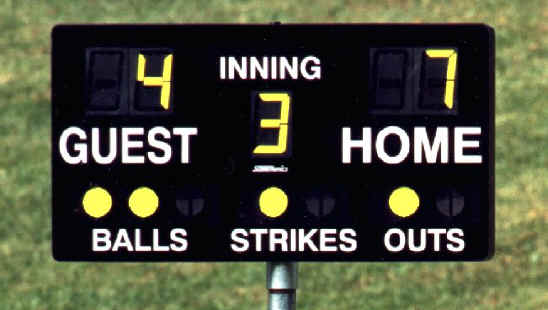Portable Baseball Softball Scoreboard